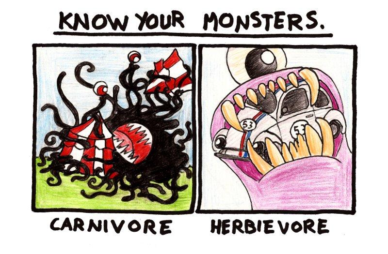 Omnivores just eat monks
