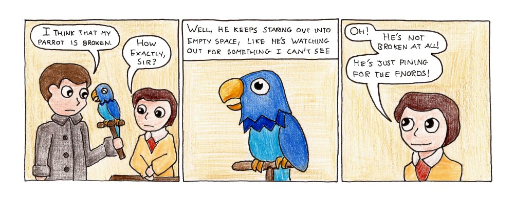 401 – Sketch Of A Parrot