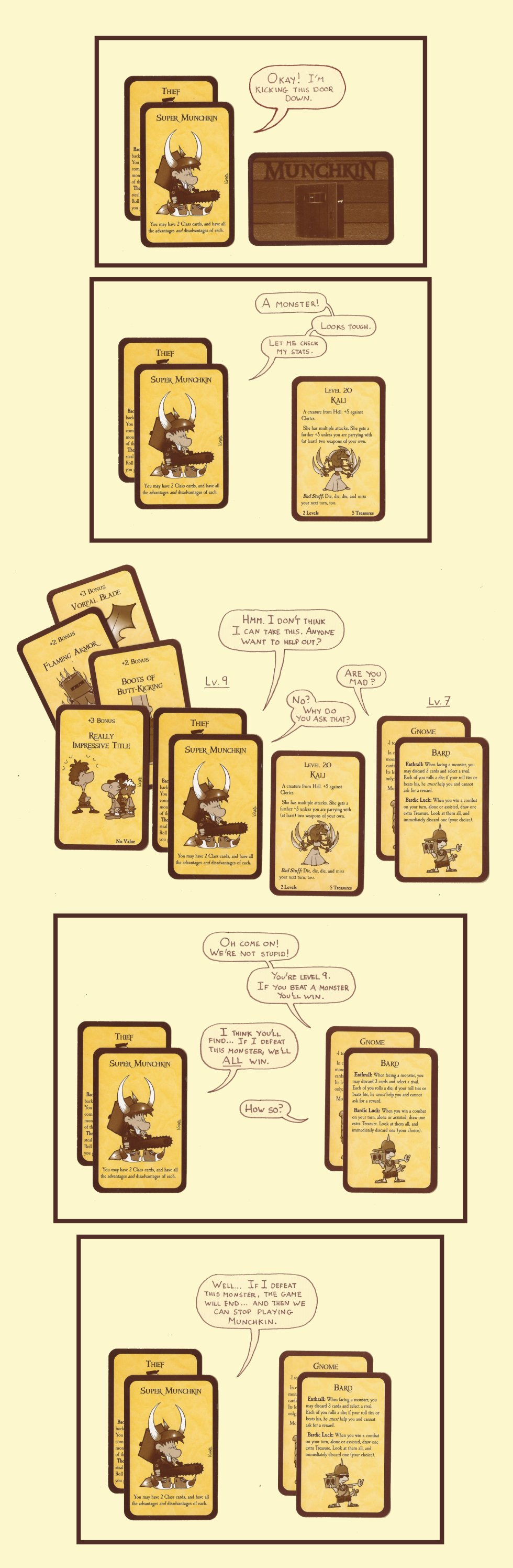 Munchkin hits critical mass at around 8 players, any more, and the chances of ending the game with people trying to win become nil, as there will always be enough curse cards available to prevent the win.